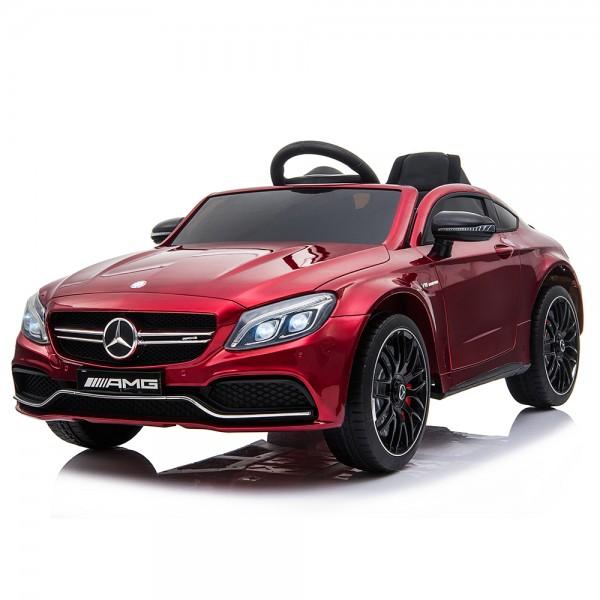 Moni Ηλεκτροκίνητη Mercedes-Benz C63s QY1588 Κόκκινη 12V Mε Τηλεχειριστήριο (3800146213381)