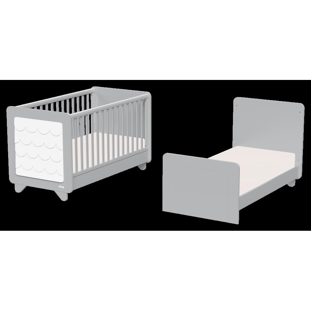 Βρεφική Κούνια  Casa Baby Owl Grey μετατρεπόμενη σε βρεφικό κρεββάτι (590157)